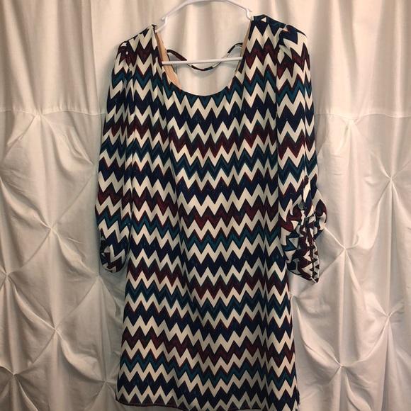 Speechless Dresses & Skirts - Chevron pattern women's midi dress
